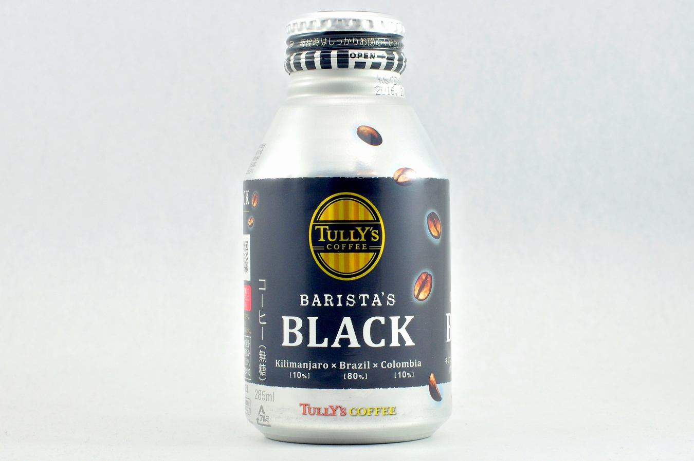 TULLY'S COFFEE BARISTA'S BLACK 285mlボトル缶 2015年2月