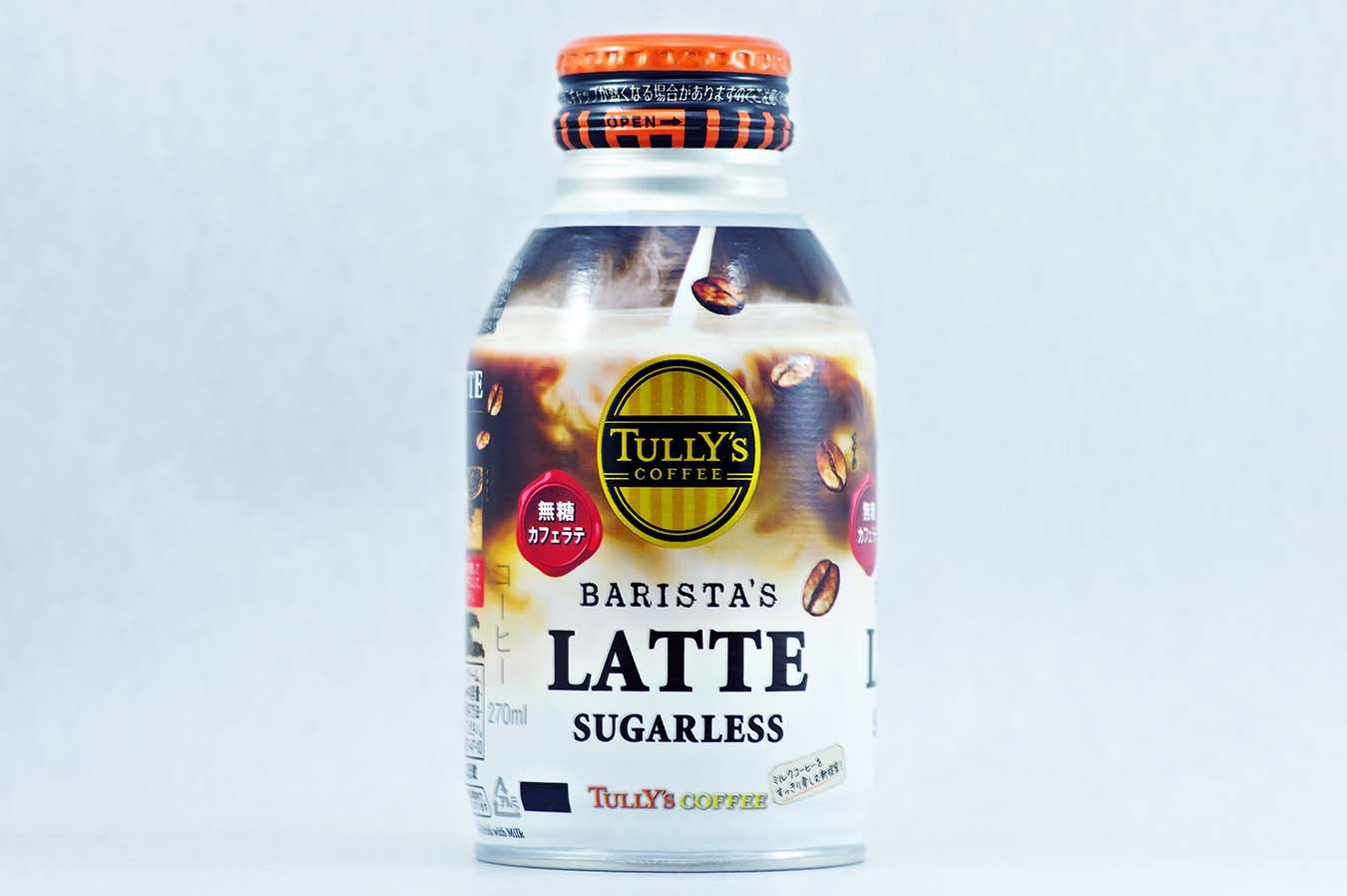 TULLY'S COFFEE BARISTA'S LATTE SUGARLESS 270mlボトル缶 2015年10月